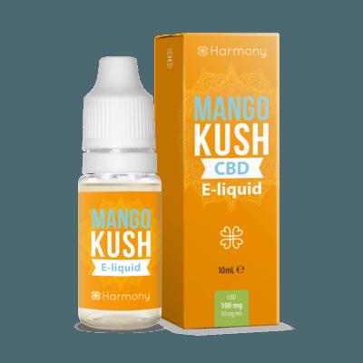Liquid konopny do waporyzacji Harmony Mango KUSH CBD 100mg, 10 ml
