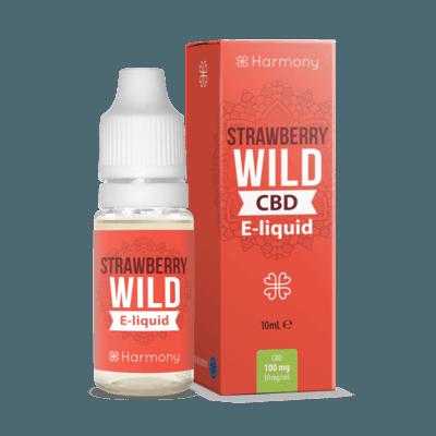 Liquid konopny do waporyzacji Harmony Wild Strawberry CBD 100mg, 10 ml