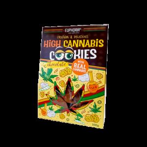 Ciasteczka konopne High Cannabis z czekoladą 100g