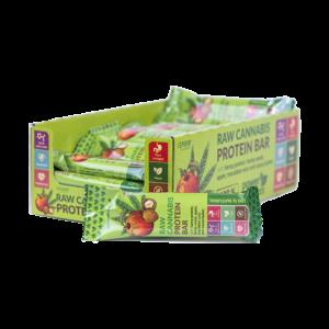Baton proteinowy RAW CANNABIS Jabłko, Makadamia 50g